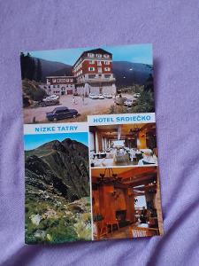 Pohlednice N.Tatry - HOTEL SRDIEČKO,prošlé poštou