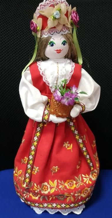 Panenka v ruském lidovém kroji - ruční práce