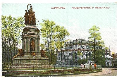 Pohlednice, Hannover, Německo, MF, 17/72