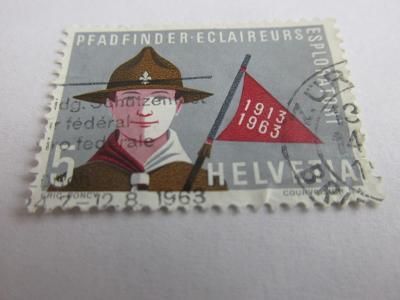 Známky  Švýcarsko 1963, Skauting - Uniformy