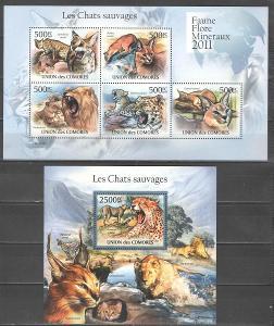 ** KOMORY 2x aršík kočkovité šelmy 2011 - 25 euro