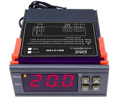 Digitální termostat 220V,  nastavení 0,1 °C