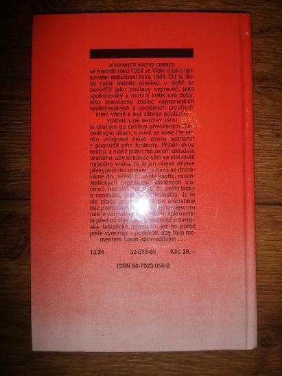 Johannes Mario Simmel - Všichni lidé bratry jsou, 1990 - Knihy