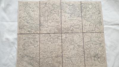 Vojenská mapa Pardubice-Hradec Králové-Přelouč-Chlumec n. Cidlinou1928