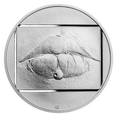 Stříbrná uncová medaile Jan Saudek - Marie č.1 proof!!!!