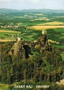 hrad Trosky - letecký pohled