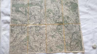Vojenská mapa Náchod-Hronov-SUDETY-Joswfov-Č. Skalice-Č.Kostelec-1927