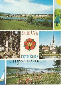 Frymburk - Lipenské jezero, Šumava, okr. Český Krumlov, znak 5-4876°°