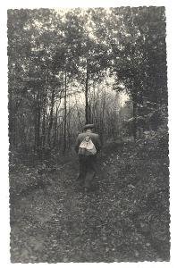 Pohlednice, muž v lese, MF, 21/71