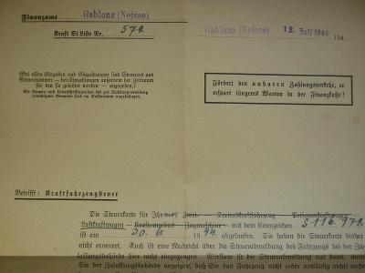 AUFTRAG  BuM SUDETY GABLONZ - NEISSE 1944 JABLONEC NAD NISOU WAR!! RR