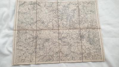 Vojenská mapa Sudice-Trebom-Rohov- zaniklé obce-SUDETY-1924