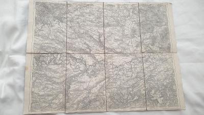 Vojenská mapa Chomutov-Žatec-Louny--Březno-zaniklé obce-SUDETY-1931