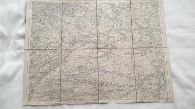 Vojenská mapa Roudnice n. Labem-Libochovice-Velvary-Slavětín-1929