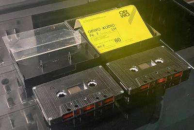Magnetofonová kazeta ORWO C60 2ks