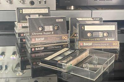 Magnetofonová kazeta BASF Chrome Super II 90min 8 ks