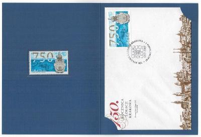Polsko 2007 Prezentační balíček Známky + FDC + Dopisnice Krakov 750 le