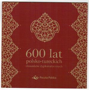 Polsko 2014 Prezentační balíček Známky Aršík Turecko společné vydaní