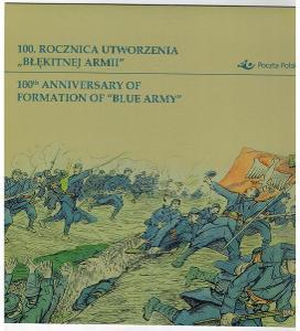Polsko 2017 Prezentační balíček Známky + FDC První světová válka Modrá