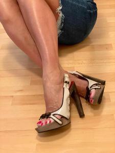 Originál kožené sandálky na vysokém podpatku #cesarepaciotti