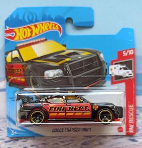 Dodge Charger Drift Fire Dept HotWheels