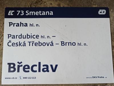 Směrová cedule - EC 73/72 SMETANA