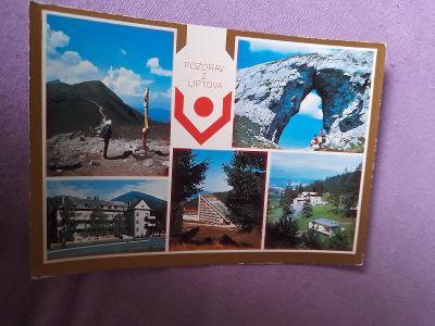 Pohlednice Pozdrav z Liptova,prošlé poštou