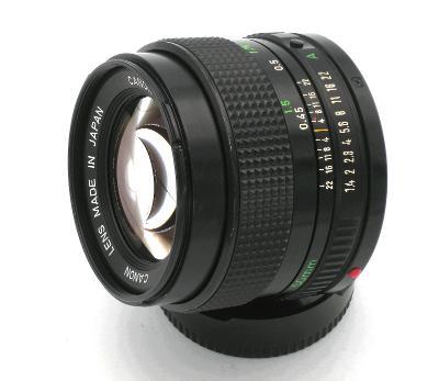 Objektiv CANON FD 1,4/50, pěkný funkční stav (Baj. Canon)