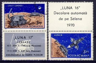Rumunsko 1971 ʘ/ Mi. 2914-5 , komplet , kupon , kosmos , /RU/