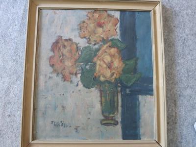 Obraz Květiny ve váze, František Křížek