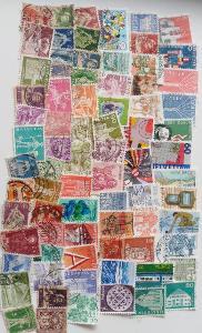 Každá jiná - poštovní známky Švýcarska 77ks