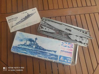 Vintage model lodě Italeri No 501 Battle cruiser 1:720