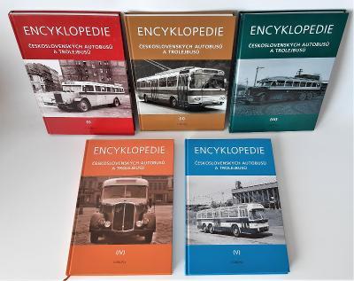 Encyklopedie československých autobusů a trolejbusů (série 5 knih)
