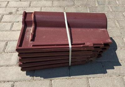 Střešní tašky - Tondach Románská 12 Glazura Amadeus červená