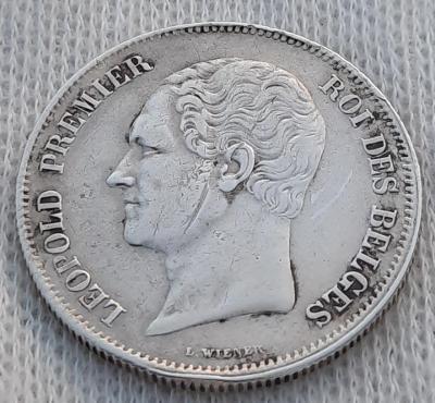 Belgie 2½ frank 1849, Ag, vzácný