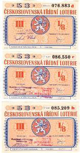 Třídní loterie   53  různé serie