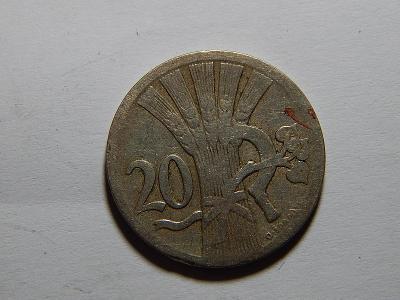 Československo 20 Haléřů 1927 F č25425