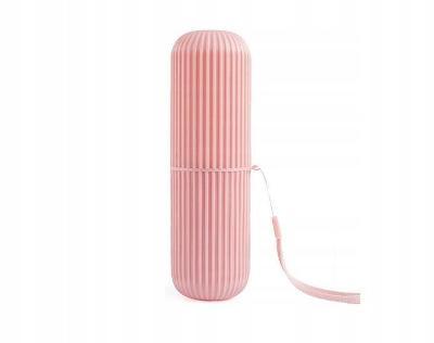 Přenosné cestovní pouzdro na zubní pastu a kartáček 0578 růžové