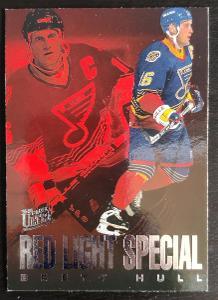 Hokejová karta - 1995/96 Ultra Fleer Red Light Special- Brett Hull