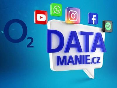 Datamanie O2 100 GB každý měsíc