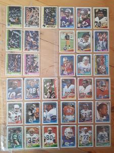 Americký fotbal NFL lot Fleer a Topps 1988