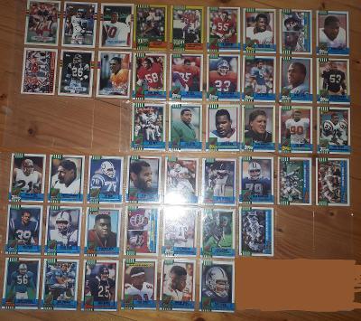 Americký fotbal NFL lot 1989 a 1990 Topps
