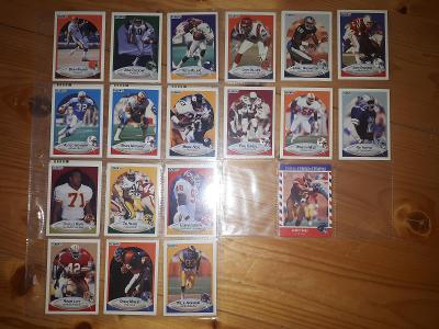 Americký fotbal NFL lot Fleer 1990