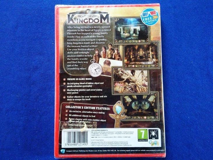 PC - ESCAPE THE LOST KINGDOM - COLLECTORS EDITION (retro 2010)Top Nová - Hry