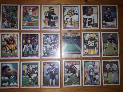 Americký fotbal NFL lot 1991 Bowman