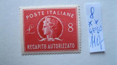 Itálie -  čistá kolková známka katalogové číslo 8