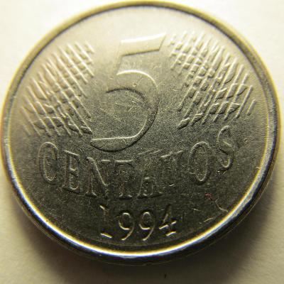Brazílie 5 Centavos z roku 1994
