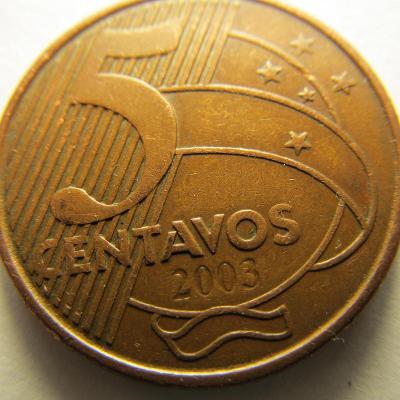 Brazílie 5 Centavos z roku 2003