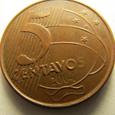 Brazílie 5 Centavos z roku 2004