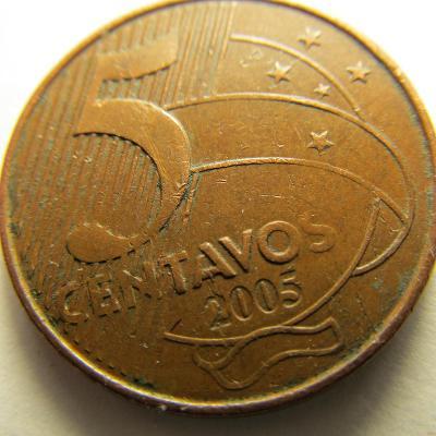 Brazílie 5 Centavos z roku 2005