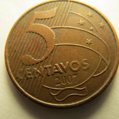 Brazílie 5 Centavos z roku 2007
